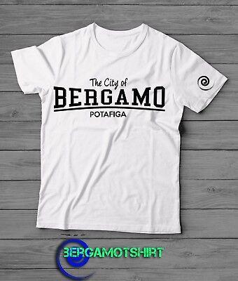 T-shirt Tshirt Shirt Bergamo Freshens Atalanta Limited Edition Flat Design | eBay