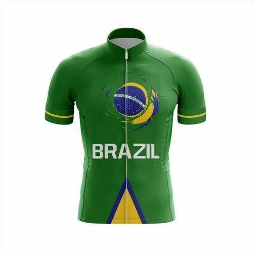 Team Brazil V1 Short Sleeve Cycling Jersey