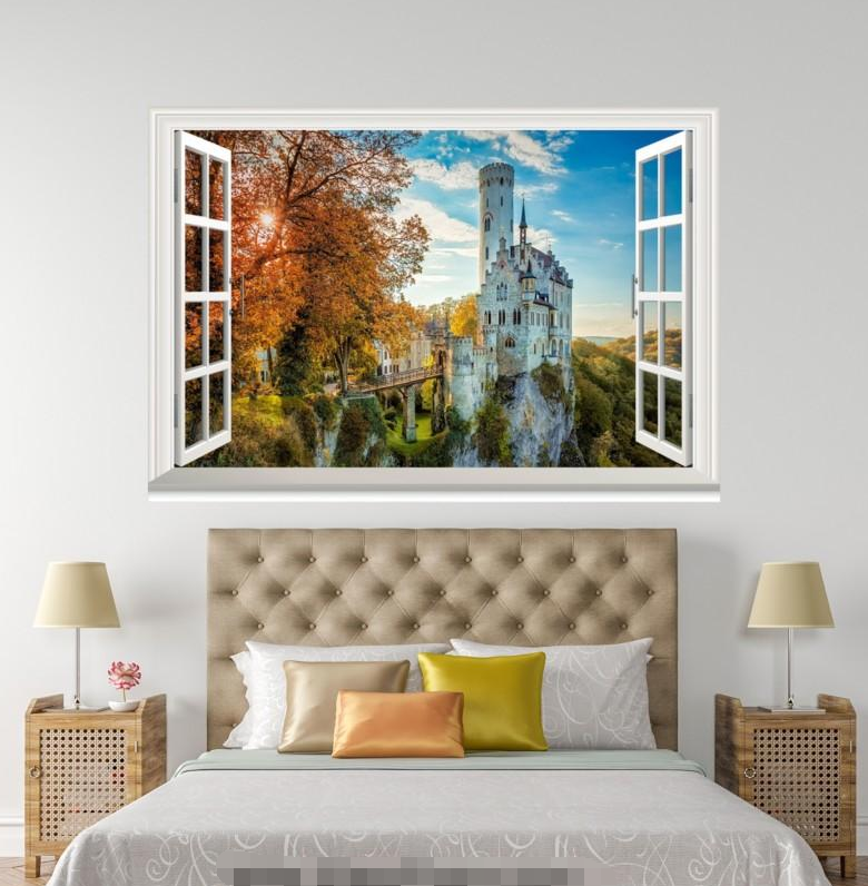 3D City Build 5003 Open Windows WallPaper Murals Wall Print Decal Deco AJ Summer