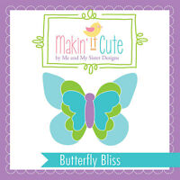 Makin' It Cute Plastic Template Set Butterfly Bliss By Me & My Sister