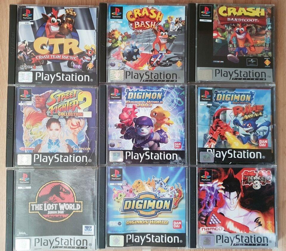 Diverse PS1 spil, PS