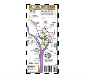 Streetwise Washington DC Metro Map - Laminated Washington DC Public ...