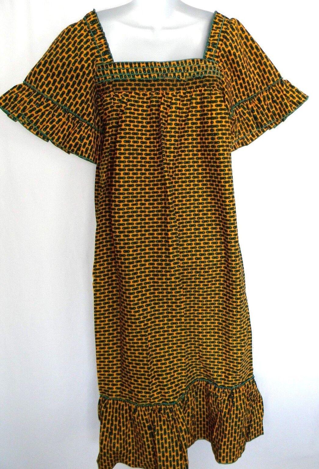 African Wax Größe L Maxi Dress Details Square Neckline damen Dashiki Ankara Dress