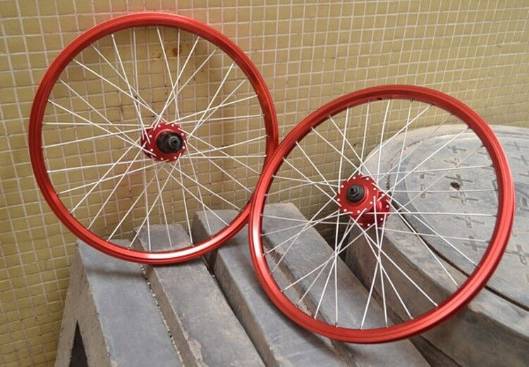 26'' Bicycle Wheel Set For MTB BMX Disc Brake NOVATEC Hubs F R Wheels Rim Red
