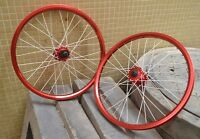 26'' Bicycle Wheel Set For Mtb Bmx Disc Brake Novatec Hubs F/r Wheels Rim Red