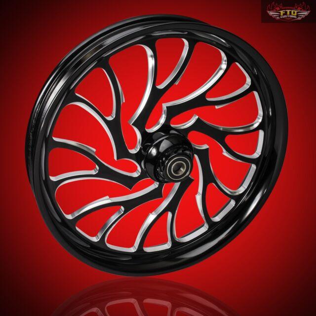 Harley Davidson Black Contrast 30 Inch Front Wheel Nightmare By Ftd Customs For Sale Online Ebay