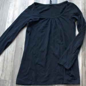 Shirt-Schwarz-Groesse-M-lange-Arme