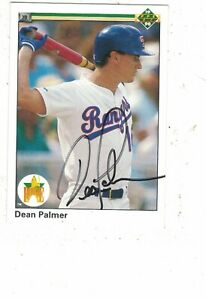 Dean Palmer Texas Rangers 1990 Upper Deck Authentic Autograph COA