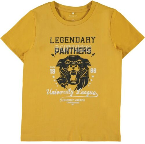 NAME IT Jungen T-Shirt NKMLanter gelb Größe 116 bis 146//152