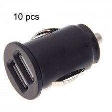 black Dual USB car charger for iPhone 6s 6splus 6 6plus 5 5c 4 2x1A ports 10 pcs