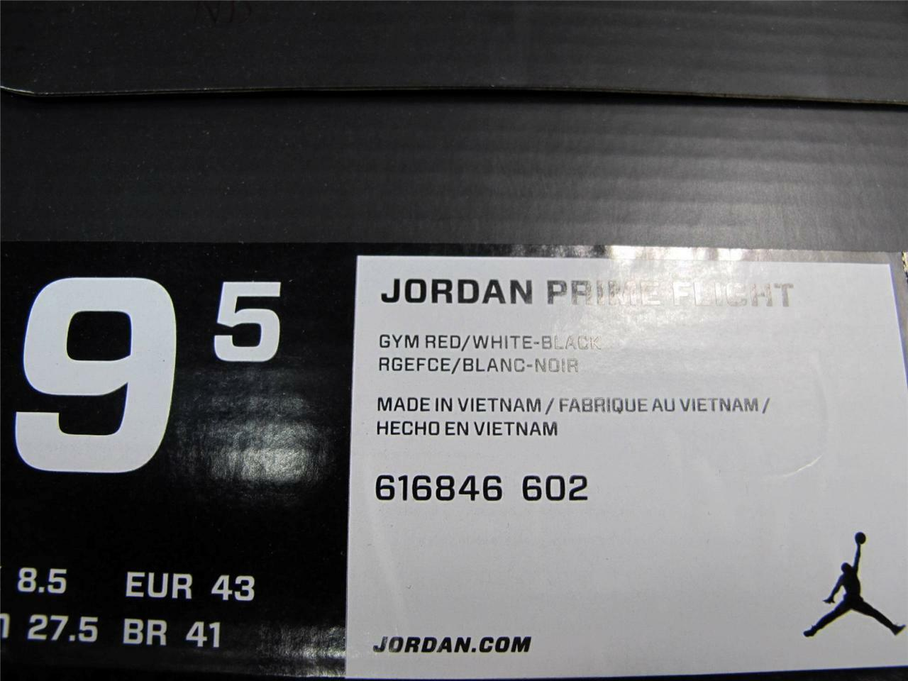 NEW NEW NEW uomo JORDAN PRIME FLIGHT 616846-602 a5fb8a