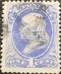 Scott-134-US-1870-One-Cent-Ben-Franklin-Postage-Stamp-XF