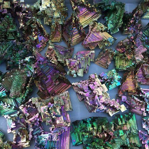 Rare Rainbow Titanium Bismuth Specimen Mineral Gemstone Crystal 20G 9UK