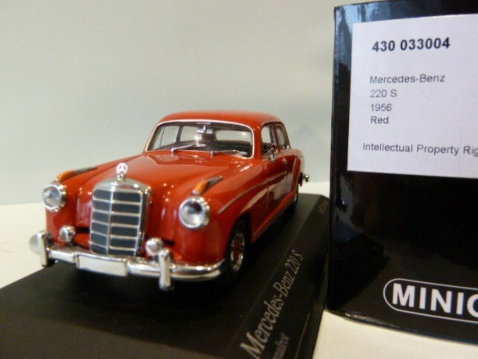 WOW EXTREMELY RARE Mercedes W180 220S Ponton 1956 Red 1 43 Minichamps-180 200 a