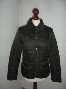 vintage-Barbour-Jacke-Steppjacke-england-Damen-dunkelbraun-Gr-UK12-EU38-SMALL