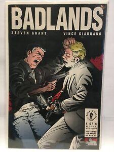 Badlands-1991-6-VF-1st-Imprime-Fonce-Cheval-Comics
