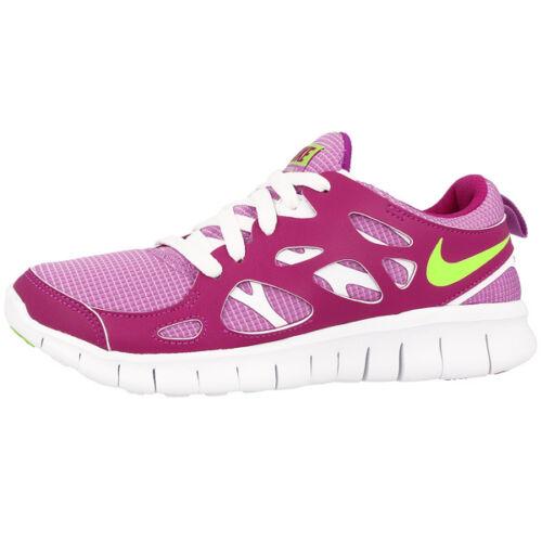 NIKE Free Run 2 Gs Scarpe Sneaker Scarpe da running Fuchsia Lime White 477701503
