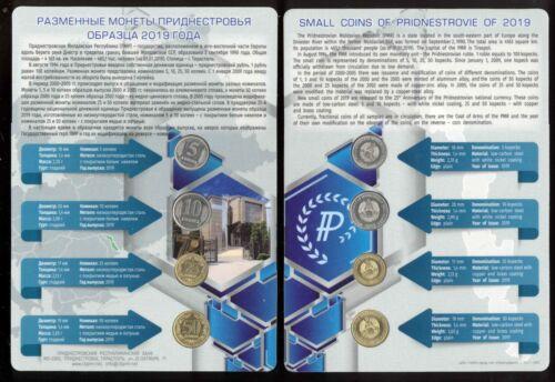 Transnistria 2019 set 4 coins 5 10 25 50 kopecks UNC  Official booklet New!!!