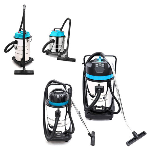 WET & DRY VACUUM CLEANER 20L/30L/50L/80L STAINLESS STEEL HOME WORKSHOP 1.2/3KW