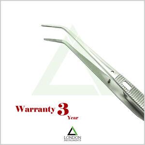 Self-locking-Cross-action-serrated-Jewelers-tools-Curved-Soldering-Tweezers