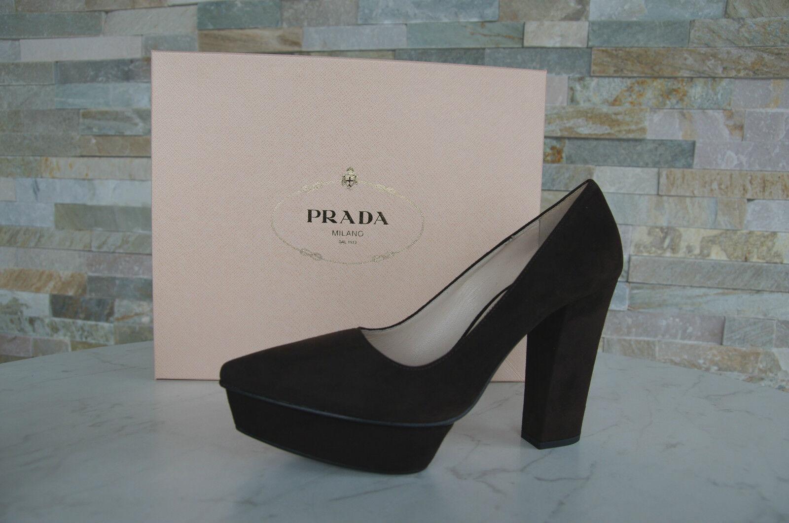 Luxury PRADA  Dimensione 36,5 Pump Platform Heels 1ip257 scarpe Marronee NUOVO  scelte con prezzo basso