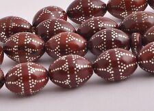 Islamic handmade Kuka ( Coco de mer ) silver inlaid Prayer Beads
