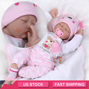 22-034-Reborn-Gift-Baby-Dolls-Lifelike-Newborn-Silicone-Vinyl-Handmade-Full-Body-US