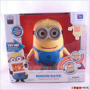 Despicable Me 2 Minion Dave talking laughing action figure by Thinkway Toys