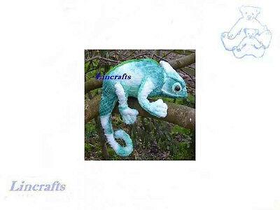 Green Chameleon Plush Soft Toy by Dowman Soft Touch Sold by Lincrafts. RB405