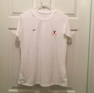 New Virginia UVA Cavaliers Women's Soccer Team Issued Nike White T-Shirt XL
