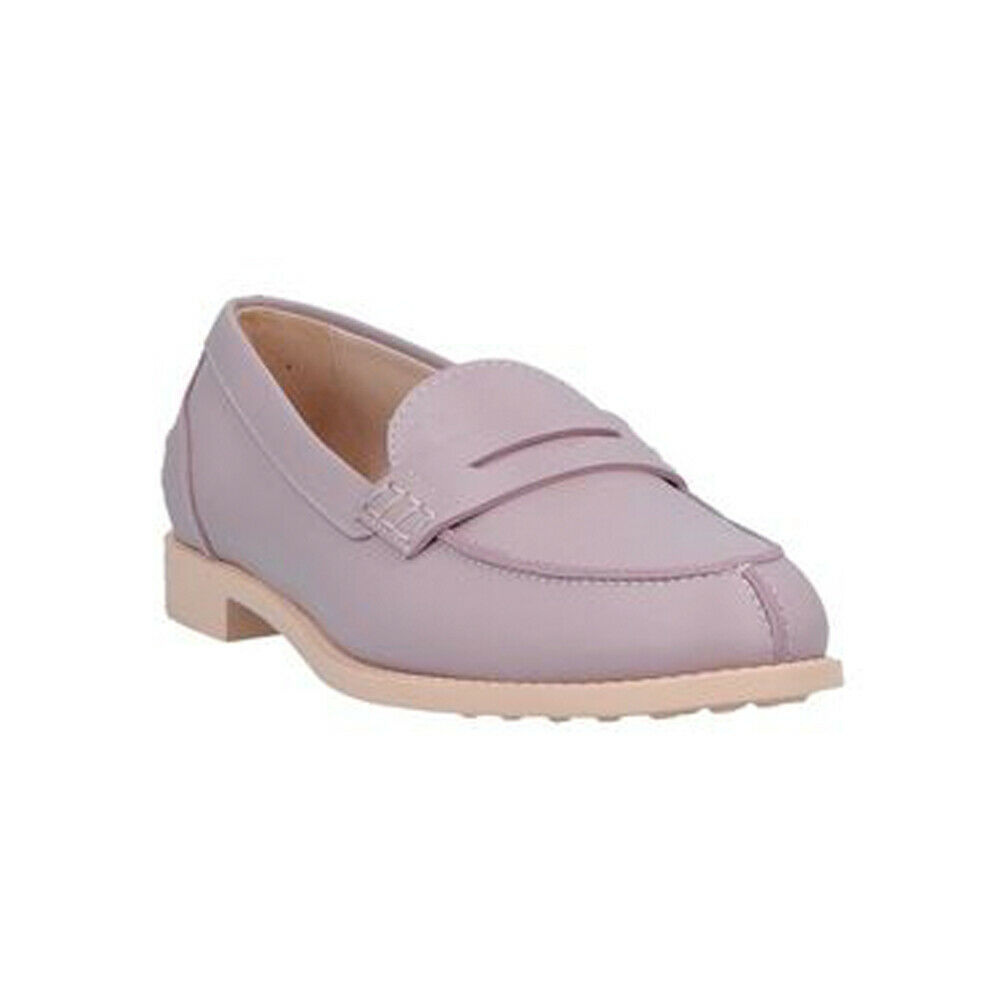 Tod's Women's Leather Penny Loafers Light Purple