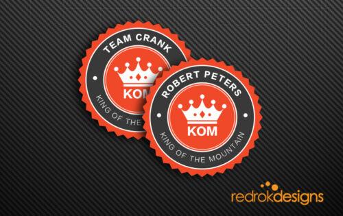 QOM StickerTeam Name Stickers Strava Personalised KOM