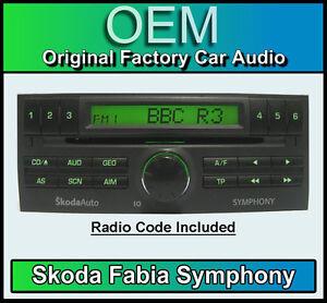 SKODA-FABIA-autoradio-SKODA-Symphony-CD-Lecteur-avec-radio-Code