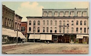 Carlinville-IL-St-George-Hotel-Loehr-Drug-Store-Millinery-T-Surman-Clothier-1910