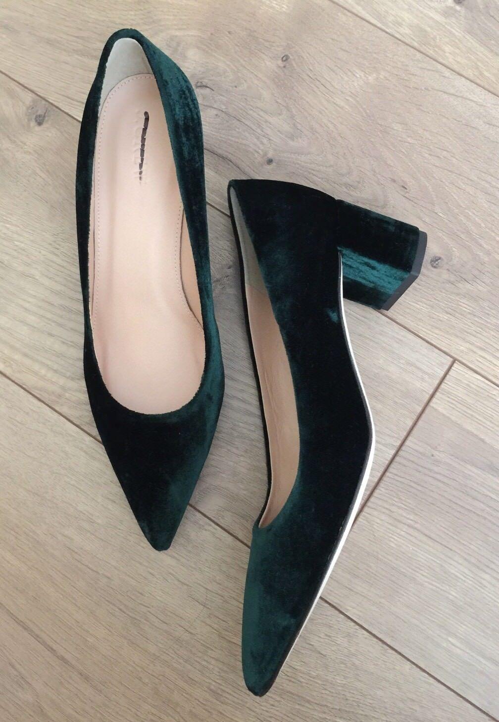 Nouveau jcrew Avery Talons en Velours Chaussures  278 Forêt sombre f5215 Taille 7