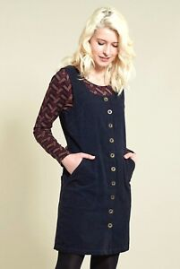 8372456ba8c Image is loading NOMADS-fair-trade-BOHO-retro-PINAFORE-tunic-POPPER-