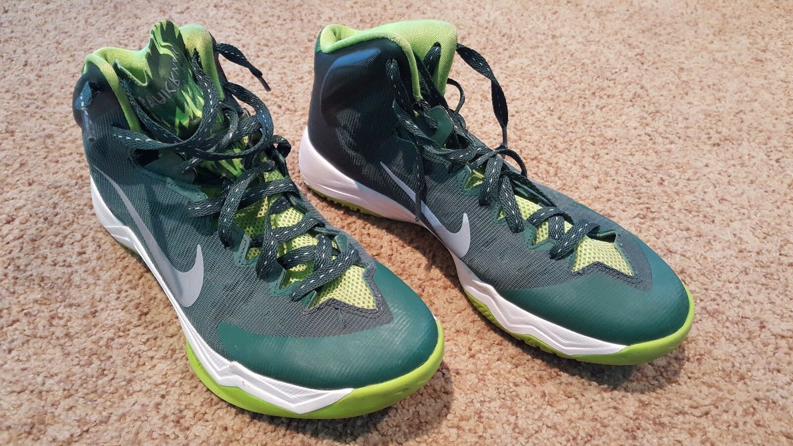 Nike Zoom Hyperquickness GRFX Shoes Men's Size 8.5 Basketball Shoes GRFX 616865-300 cb99ad