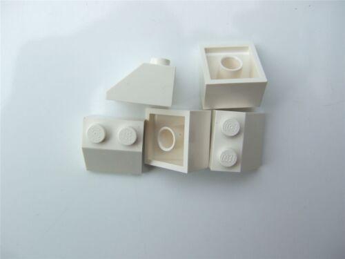 303901 Parts /& Pieces 5 x Lego White ROOF TILE 2X2//45 degrees