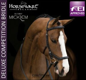 Horseware-Rambo-MICKLEM-DELUXE-Competition-Bridle-FEI-Approved-Black-Brown-P-C-F