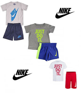 26150a45d NIKE Toddler Boys' Dri Fit Short Sleeve T-Shirt and Short 2 Piece ...