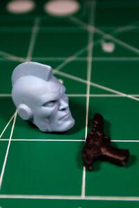 Custom Resin Cast Alternate Sentry head 1:12 scale Kree Captain Marvel