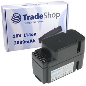 Trade-Shop Premium AKKU 28V 2000mAh Li-Ion ersetzt Worx WA3225 WA3565