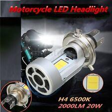 Motorcycle H4 LED Hi/Lo Light 20W 2000LM Driving Lamp White 6500K Headlight Bulb