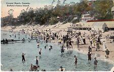 Crystal Beach Ontario Canada Bathers - Prelinen - 1915 Fair