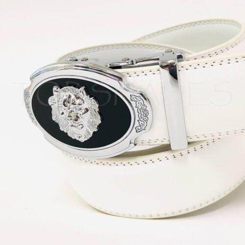 Correas Cinturones de Piel Moderno Hebilla Automatica Hombre Silver Buckle Belts