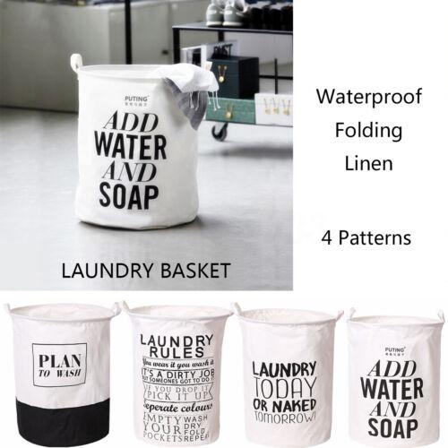 Practical Foldable Washing Clothes Laundry Basket Bin Hamper Home Storage Bag