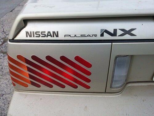 New 1987-1990 Pulsar NX Twin Cam 16 Valve SE Rear Badge Decal Set N13 SE XE EXA