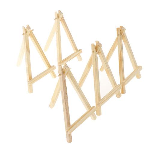 5x Mini Künstler Holz Staffelei Hochzeit Tischkarten Ständer Display Halter