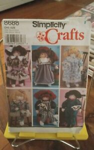 Oop-Simplicity-Crafts-8688-stuffed-doll-22-034-clothes-old-fashioned-NEW
