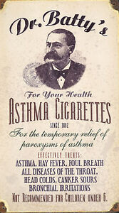 Medical-Poster-Dr-Batty-s-Asthma-Cigarettes-Picture-Midical-Anatomy-Art